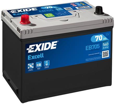 Akumulator Exide Excell 12V 70AH 540A(EN) L+ Exide EB705