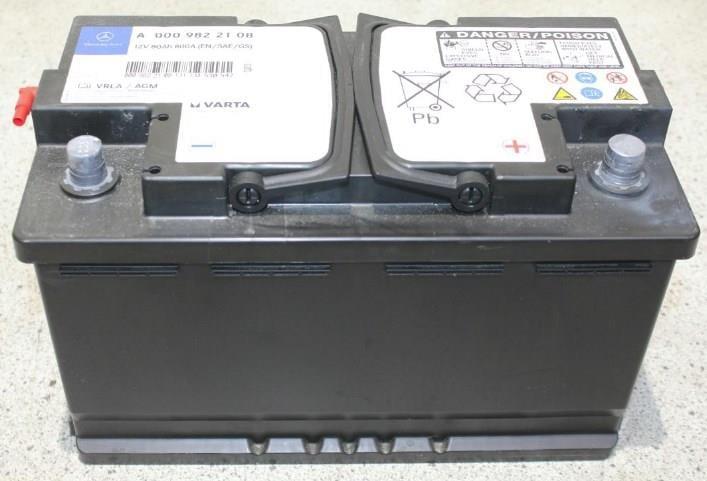 Akumulator Mercedes 12V R+ Mercedes A 000 982 21 08