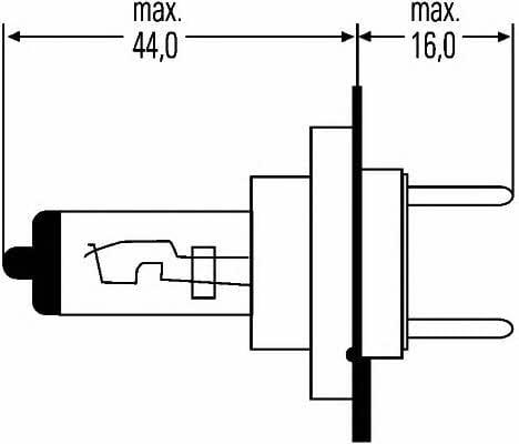 Żarówka halogenowa H7 12V 55W