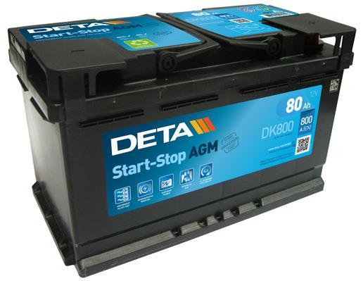 Akumulator Deta Start-Stop AGM 12V 80AH 800A(EN) R+ Deta DK800