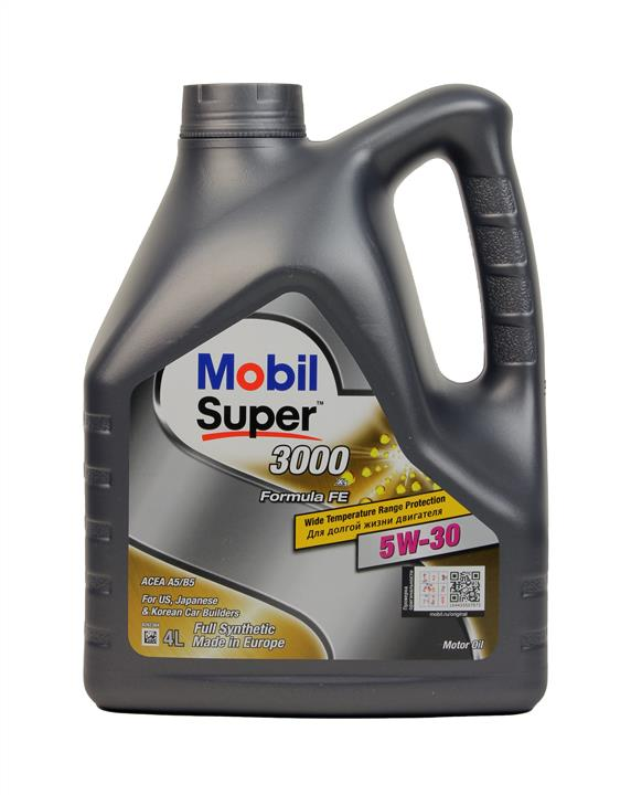 Olej silnikowy Mobil Super 3000 X1 Formula FE 5W-30, 4 l