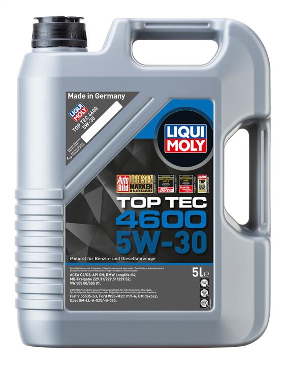 Olej silnikowy Liqui Moly Top Tec 4600 5W-30, 5 l