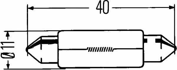 Żarowe C10W 12V 10W