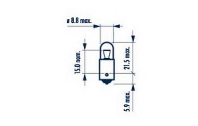 Żarowe T4W 12V 4W